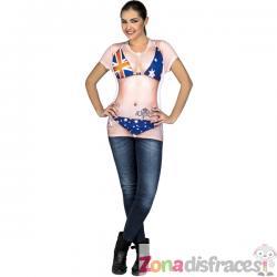 Camiseta de australiana sexy para mujer - Imagen 1