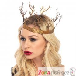 Corona de reina del bosque para adulto - Imagen 1