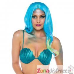 Sujetador de sirena verde para mujer - Imagen 1