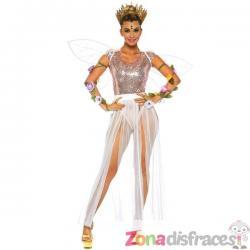 Falda blanca con flecos para mujer - Imagen 1