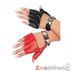 Guantes sin dedos Harley para mujer - Imagen 1