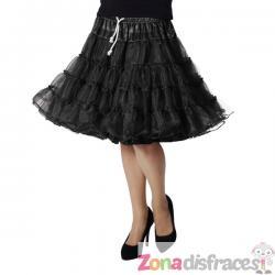 Enaguas deluxe negro para mujer - Imagen 1