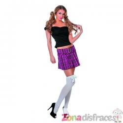 Falda de estudiante rosa para mujer - Imagen 1