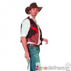 Chaleco de vaquero marrón para hombre - Imagen 1