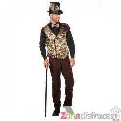 Chaleco de steampunk dorado para hombre - Imagen 1