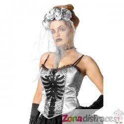 Corsé de esqueleto gris para mujer - Imagen 1