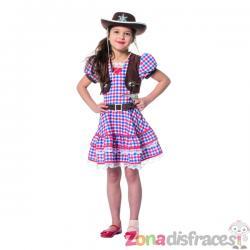Disfraz de vaquera rojo para niña - Imagen 1