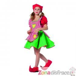 Disfraz de duende rojo apra niña - Imagen 1