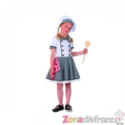 Disfraz de cocinera blanco para niña - Imagen 1