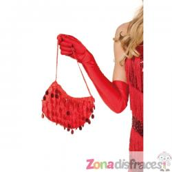 Bolso de cabaret con lentejuelas rojo - Imagen 1