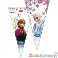 Set de 6 bolsas de cono medianas de Frozen - Imagen 1