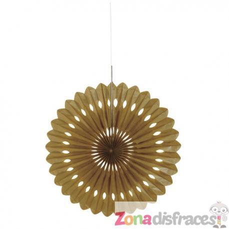 Abanico decorativo dorado - Línea Colores Básicos - Imagen 1