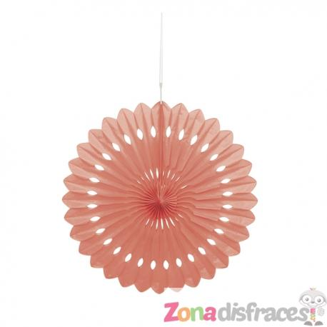 Abanico decorativo coral - Línea Colores Básicos - Imagen 1