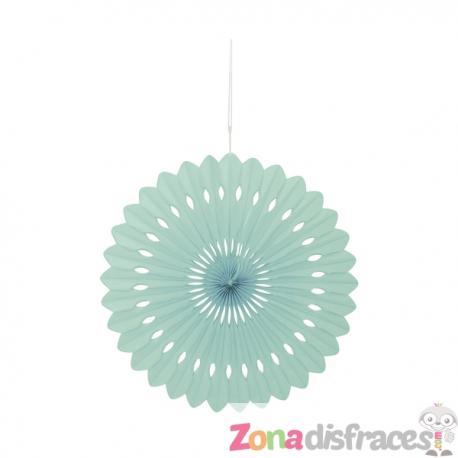 Abanico decorativo verde menta - Línea Colores Básicos - Imagen 1