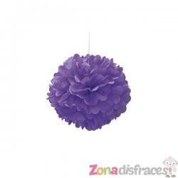 Pom pom decorativo morado neón - Línea Colores Básicos - Imagen 1