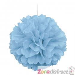 Pom pom decorativo azul cielo - Línea Colores Básicos - Imagen 1