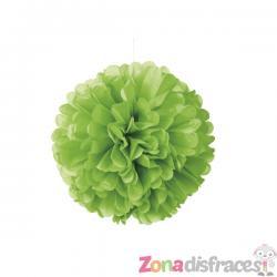 Pom pom decorativo verde lima neón - Línea Colores Básicos - Imagen 1