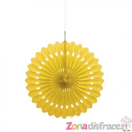 Abanico decorativo color amarillo - Línea Colores Básicos - Imagen 1