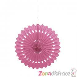 Abanico decorativo color rosa- Línea Colores Básicos - Imagen 1