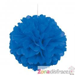 Pom pom decorativo color azul oscuro - Línea Colores Básicos - Imagen 1