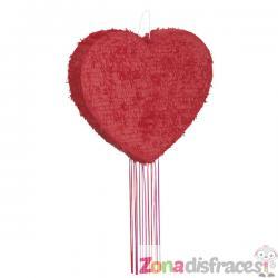 Piñata con forma de corazón - Imagen 1