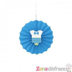 Abanico decorativo azul - Baby Shower - Imagen 1