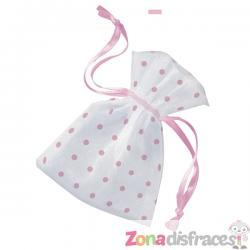 Bolsa blanca con topos rosas - Baby Shower - Imagen 1