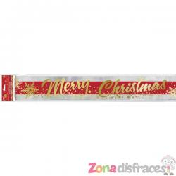 Cartel rectangular Merry Christmas - Gold Sparkle Christmas - Imagen 1
