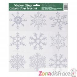 Pegatinas para ventana copos de nieve - Silver Snowflake Christmas - Imagen 1