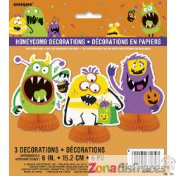 Set de 3 decoraciones de mesa de monstruos infantiles - Silly Halloween Monsters - Imagen 1