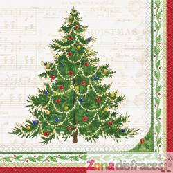 Set de 16 servilletas con árbol de navidad - Classic Christmas Tree - Imagen 1