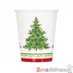 Set de 8 vasos con árbol de navidad - Classic Christmas Tree - Imagen 1