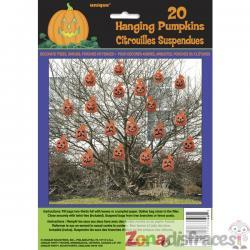Set de 20 bolsas de calabaza para decorar - Basic Halloween - Imagen 1