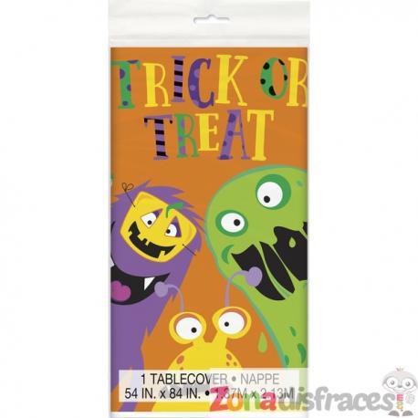 Mantel rectangular de monstruos infantiles - Silly Halloween Monsters - Imagen 1
