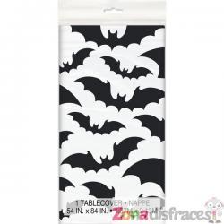Mantel rectangular con murciélagos x - Black Bats Halloween - Imagen 1