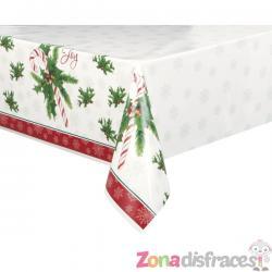 Mantel rectangular de caramelo navideño - Candy Cane Christmas - Imagen 1