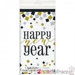 Mantel rectangular de Nochevieja - Happy New Year - Imagen 1