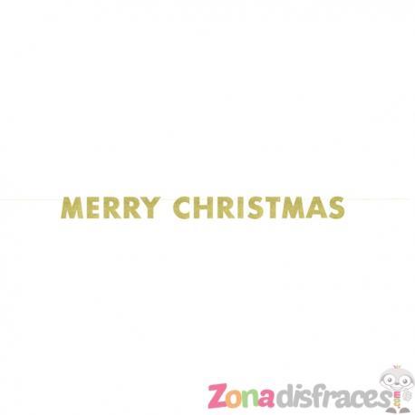 Guirnalda dorada brillante Merry Christmas - Basic Christmas - Imagen 1