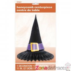 Centro de mesa de nido de abeja con sombrero de bruja - Basic Halloween - Imagen 1