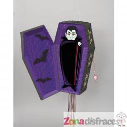 Piñata de vampiro en su ataúd - Basic Halloween - Imagen 1