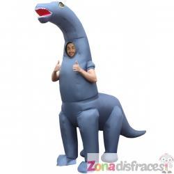 Disfraz de diplodocus hinchable para adulto - Imagen 1