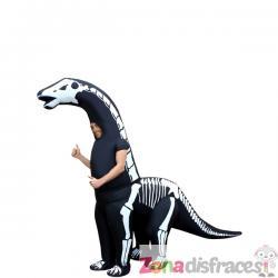 Disfraz de diplodocus esquelético hinchable para adulto - Imagen 1
