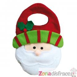 Bolsa navideña de Papá Noel - Imagen 1