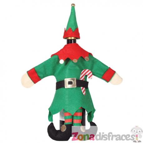 Funda navideña para botella de elfo - Imagen 1