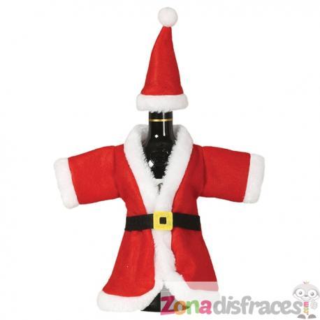 Funda navideña para botella de Papá Noel - Imagen 1
