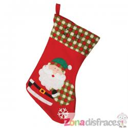 Bota navideña de Papá Noel de 45 cm - Imagen 1
