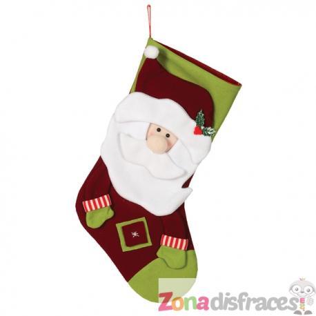 Bota navideña de Papá Noel de 55 cm - Imagen 1