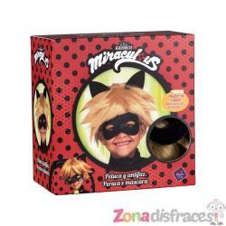 Peluca de Cat Noir para niño - Las Aventuras de Ladybug - Imagen 1