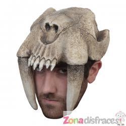Casco de tigre dientes de sable para adulto - Imagen 1