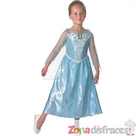 Disfraz de Elsa Frozen con luz y música en caja para niña - Imagen 1